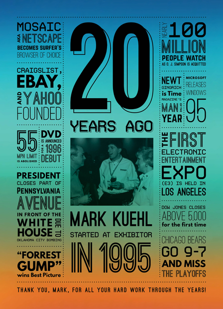 20 Year Work Anniversary Posters Dana Maria Design